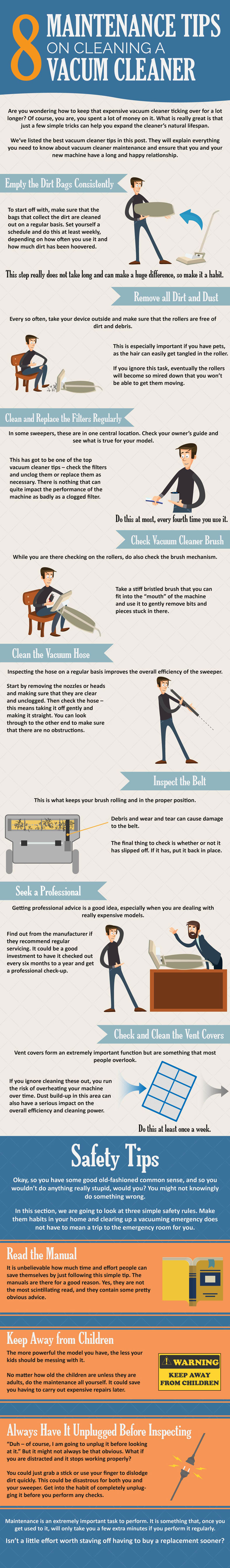 how to use and maintain the vacuum cleaner
